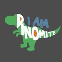 Dinomite Framed Print