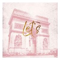Paris Lets Framed Print