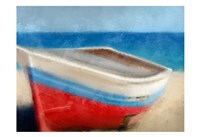 Red White and Blue Beach Fine Art Print