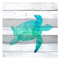 Watercolor Sea Life 3 Framed Print