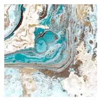 Turquoise 1 Framed Print
