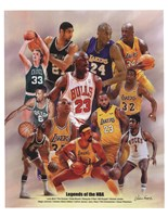 Legends of the NBA Fine Art Print
