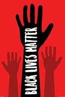 Black Lives Matter (red) Framed Print