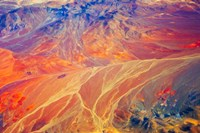 Land Pattern on Atacama Desert, Chile Fine Art Print