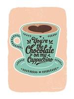 Chocolate on My Cappucino Fine Art Print