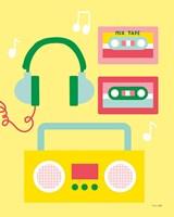 Lets Listen to Music II Framed Print