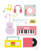 Lets Listen to Music I Framed Print