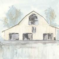 White Barn V Framed Print