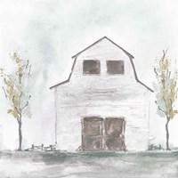 White Barn IV Framed Print