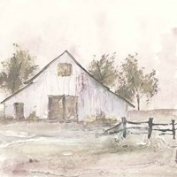 White Barn II Framed Print