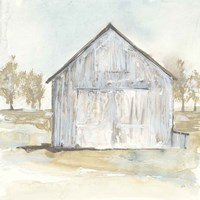 White Barn I Framed Print