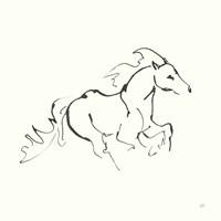Line Horse II Fine Art Print