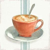 Wake Me Up Coffee III With Stripes No Cookie Fine Art Print
