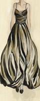 Evening Gown III Crop Framed Print