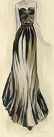 Evening Gown II Crop Framed Print