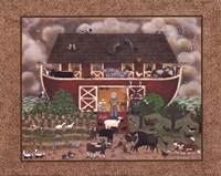 Red Barn Ark Fine Art Print