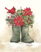 Christmas Lodge Boots Fine Art Print