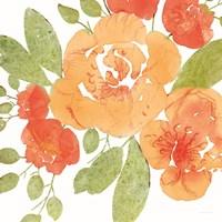 Peachy Floral II Framed Print