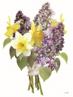 Lilacs and Daffodils Fine Art Print