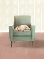 Nap Time Golden Pup Framed Print