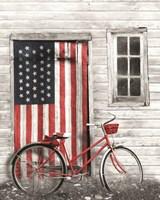 Patriotic Bicycle Fine Art Print