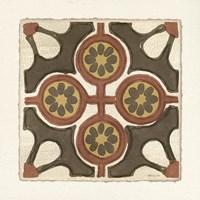 Moroccan Tile Pattern II Framed Print