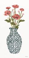 Tile Vase with Bouquet I Framed Print