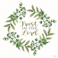 Trust in the Lord Wreath Fine Art Print