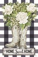Home Sweet Home Cowboy Boots Fine Art Print