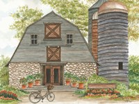 Bluebird Barn Fine Art Print