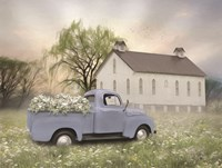 Blue Ford at Barn Fine Art Print