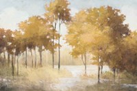 Autumn Lake Gold Fine Art Print