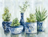 Chinoiserie Plants Bright Fine Art Print