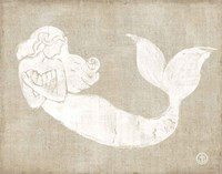 On the Waves II Burlap Fine Art Print