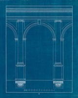 Architectural Columns IV Blueprint Framed Print