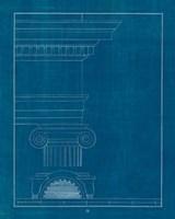 Architectural Columns I Blueprint Framed Print