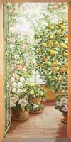 Porta sul Terrazzo Fiorito Fine Art Print