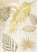 Palm Leaves Gold I Framed Print