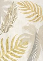 Palm Leaves Gold III Framed Print