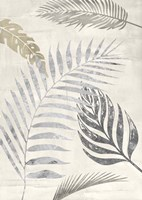 Palm Leaves Silver I Framed Print
