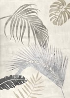 Palm Leaves Silver II Fine Art Print