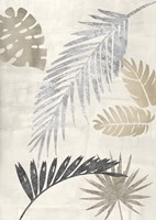 Palm Leaves Silver III Framed Print