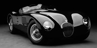 1951 Jaguar C-Type (BW) 1 Fine Art Print