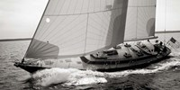 Sailboat Leaning to the Side (detail, BW) Fine Art Print