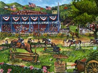 A Day At The Races Fine Art Print