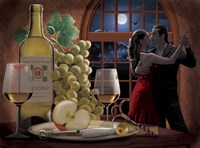 Chardonnay And Moonlight Fine Art Print
