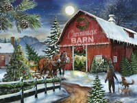 The Christmas Barn Fine Art Print