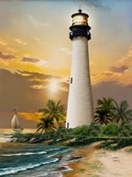 Cape Florida Lighthouse Fine Art Print