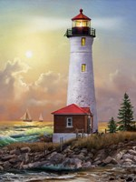 Crisp Point Lighthouse Fine Art Print