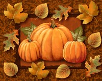 Pumpkins and Leaves Fine Art Print